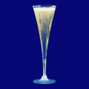 Flûte à champagne en trompette, 1 dl