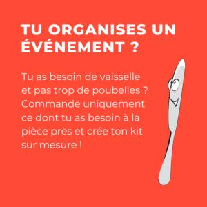 Organiser un événement avec de la vaisselle réutilisable à la carte