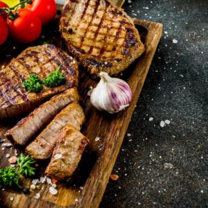 suggestion de présentation pour vos grillades de viande