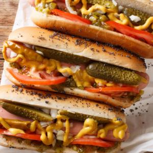 suggestion de présentation pour vos hot-dogs