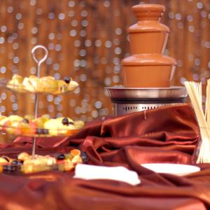 Fontaine à chocolat - suggestion de présentation